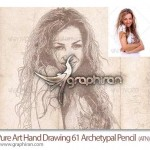 دانلود اکشن فتوشاپ تبدیل عکس عادی به نقاشی با مداد Archetypal