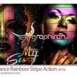 دانلود اکشن فتوشاپ ساخت افکت رنگین کمان حرفه ای روی عکس
