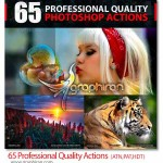 ۶۵ اکشن با کیفیت حرفه ای فتوشاپ Professional Quality Actions