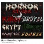 دانلود ۶ استایل وحشت آور جدید فتوشاپ Horror Styles