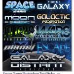 استایل متن فتوشاپ بازی های فضایی و علمی تخیلی Space Game Styles