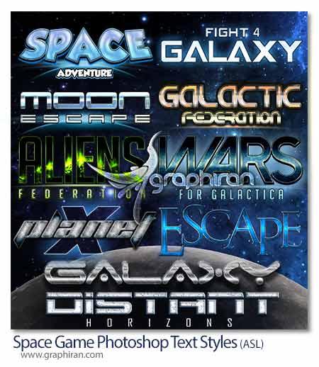 استایل متن بازی های فضایی