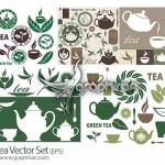دانلود مجموعه وکتورهای گرافیکی با موضوع چای Tea Vector Set