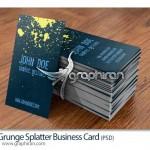 دانلود کارت ویزیت PSD لایه باز با طرح پاشیدن رنگ – شماره ۲۰۶