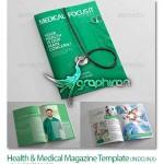 دانلود قالب آماده و لایه باز مجله شغلی پزشکی برای ایندیزاین