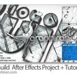 دانلود پروژه آماده افتر افکت ساخته شدن لوگو + فیلم آموزشی