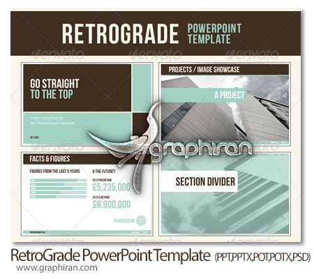 RetroGrade PowerPoint Template دانلود قالب آماده و جدید PowerPoint با طراحی زیبا و حرفه ای