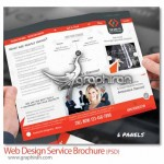 Web Design Service Brochure 150x150 دانلود بروشور شرکت طراحی تبلیغات و همچنین چاپ فرمت PSD لایه باز