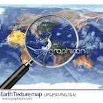 دانلود تکسچر با کیفیت کره زمین Earth Texture Map