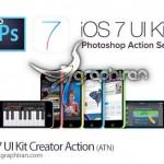 دانلود اکشن فتوشاپ جدید ساخت خودکار رابط کاربری iOS 7
