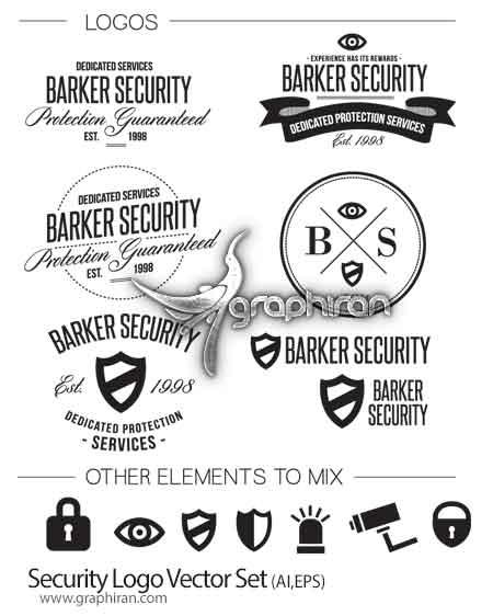 لوگو و آیکون با موضوع امنیت و حفاظت