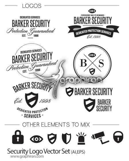 security logo دانلود وکتور لوگو و آیکون با موضوع امنیت و حفاظت فرمت EPS و AI