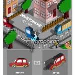 اکشن فتوشاپ تبدیل عکس و متن به طرح های پیکسلی ۳ بعدی