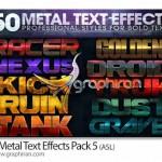 دانلود استایل های فلزی حرفه ای فتوشاپ Metal Text Effects Pack 3