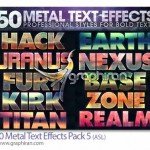استایل های فلزی جذاب فتوشاپ Metal Text Effects Pack 5