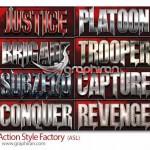 دانلود استایل های فتوشاپ به سبک اکشن Action Style Factory