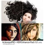 دانلود پک حرفه ای اکشن های فتوشاپ ActionizerPRO HDR Enhancer Pack 1