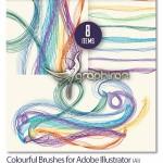 دانلود براش های رنگی و موج دار برای Adobe Illustrator