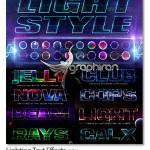 دانلود ۲۰ استایل نورانی و رنگارنگ فتوشاپ با طراحی ویژه