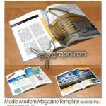 دانلود نمونه طرح لایه باز مجله ایندیزاین دارای ۲۴ صفحه A4