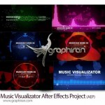 دانلود پروژه آماده افتر افکت ویژوالایزر موزیک Music Visualizator