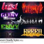 دانلود ۷ استایل مرگبار فتوشاپ Seven Deadly Styles