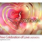 پروژه افتر افکت آماده با نام جشن عشق Celebration of Love
