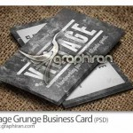 دانلود کارت ویزیت PSD لایه باز طرح قدیمی و کثیف – شماره ۲۱۸