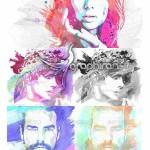اکشن فتوشاپ تبدیل عکس به نقاشی با مداد و آبرنگ حرفه ای