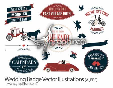 عناصر گرافیکی با موضوع عروسی