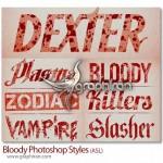 دانلود استایل های خونی فتوشاپ Bloody Photoshop Styles