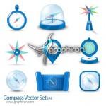 دانلود وکتور تصاویر انواع قطب نما Compasses Vector