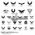 دانلود مجموعه لوگوهای عقاب به صورت وکتور Eagle Logo Vector