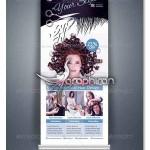 دانلود طرح آماده بنر استند سالن آرایش زنانه فرمت PSD فتوشاپ