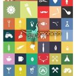 دانلود مجموعه عناصر گرافیکی متنوع به سبک مترو ویندوز ۸