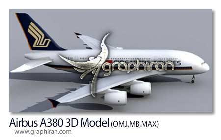 مدل هواپیما برای مایا و تری دی مکس