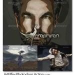 دانلود Action فتوشاپ ایجاد افکت عکس هنری و انتزاعی