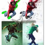 اکشن فتوشاپ ساخت افکت ذرات پراکنده Dispersion Photoshop Action