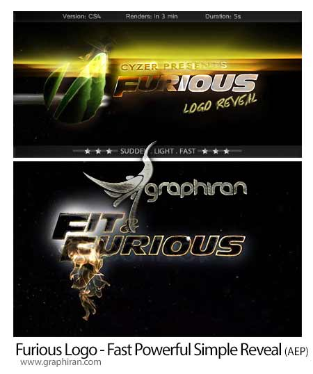 Furious Logo - Fast Powerful Simple Reveal