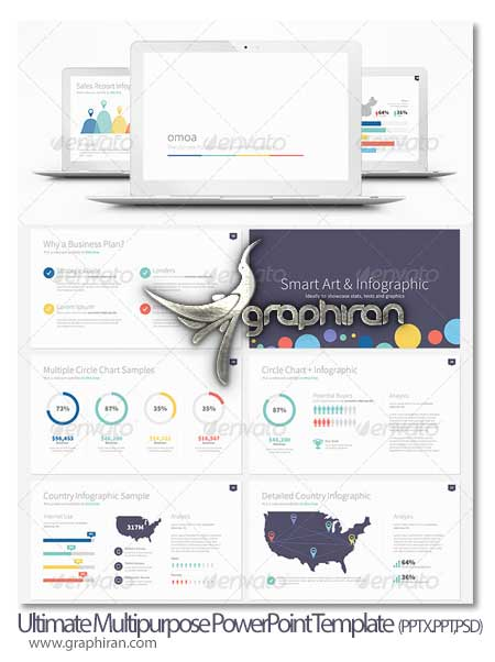 Omoa Ultimate Multipurpose PowerPoint Template دانلود قالب آماده پاورپوینت جامع Ultimate PowerPoint Template