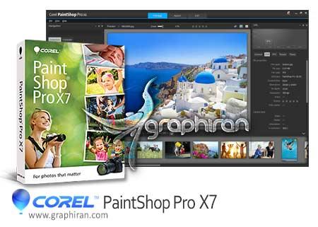 PaintShop Pro X7 دانلود نرم افزار حرفه ای ویرایش تصاویر Corel PaintShop Pro X7 v17.2.0.16