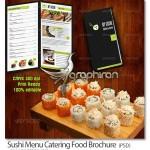 دانلود نمونه PSD لایه باز منو رستوران سوشی و غذاهای دریایی