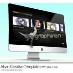 دانلود قالب سایت فلش آماده Urban Creative Template