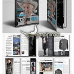 نمونه آماده و لایه باز مجله مناسب برای انواع مشاغل دارای ۵۰ صفحه