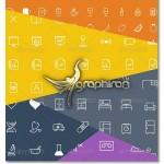 دانلود پک ۱۳۵۰ آیکون با طراحی خطی در فرمت های گرافیکی مختلف