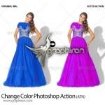 اکشن فتوشاپ تغییر رنگ بخشی از عکس Change Color Photoshop Action