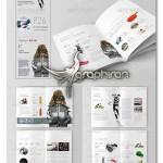 قالب آماده بروشور و کاتالوگ با طراحی مینیمال برای ایندیزاین