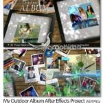 دانلود پروژه زیبای افتر افکت آلبوم عکس در فضای حیاط خانه