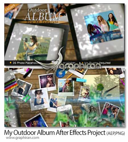 پروژه افتر افکت آلبوم عکس در فضای حیاط خانه