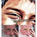 اکشن بی نظیر فتوشاپ ساخت نقاشی روغن اکرلیک ۲ بعدی – شماره ۵
